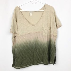 Free People We The Free Ombré Waffle Knit Top